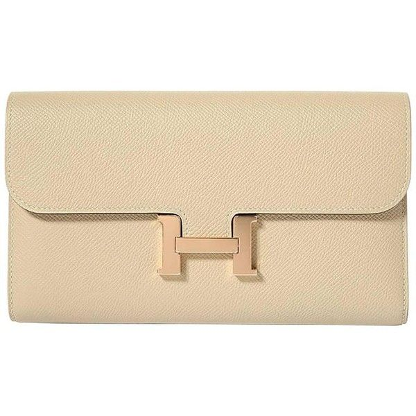 833cac49285 Hermes Constance Wallet Epsom Leather Craie Color GHW (25.785 BRL) ❤ liked  on Polyvore · CarteirasRoupasCarteira ...