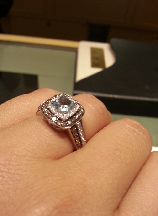 This Engagement Ring Came In A Sad Little Box Now It Looks Completely Diffe