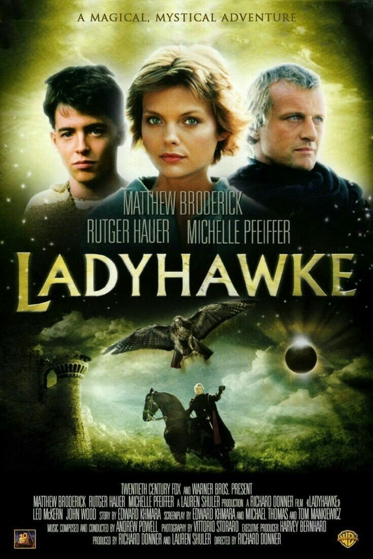 Ladyhawke With Rutger Michelle And Mathew Filmes Anos 80