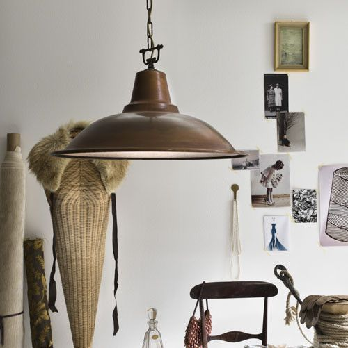 Italian Aged Copper Pendant Light | Pendant light, Copper ...