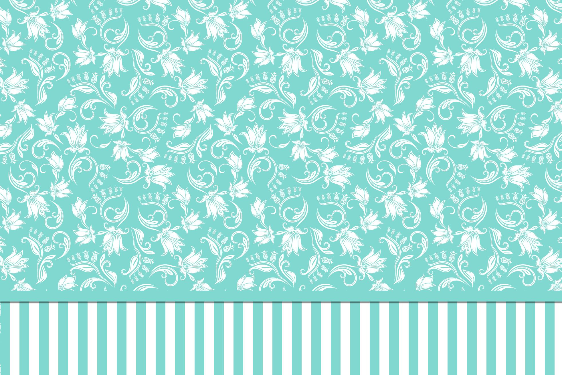 Kit Completo Azul Tiffany Floral e Listras!   moldura   Pinterest ... 2ae937408e