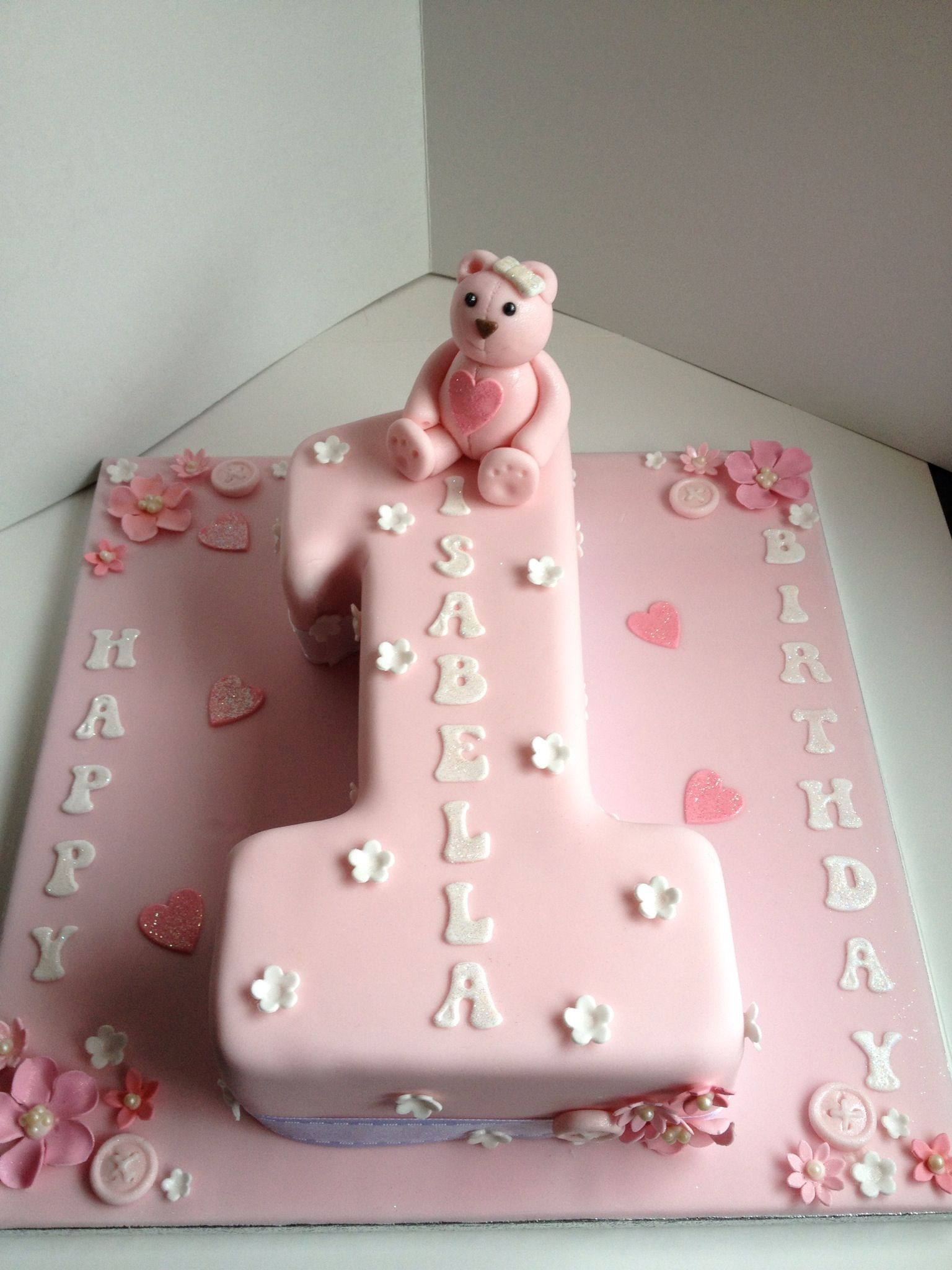 Decorating Ideas > Number 1 Shaped Pretty Pink Cake  Chy Crafts  Pinterest  ~ 042142_Number One Cake Decoration Ideas