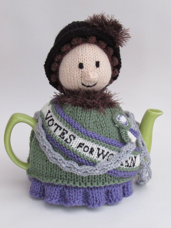 Suffragette tea cosy knitting pattern   Pinterest   Feminismo