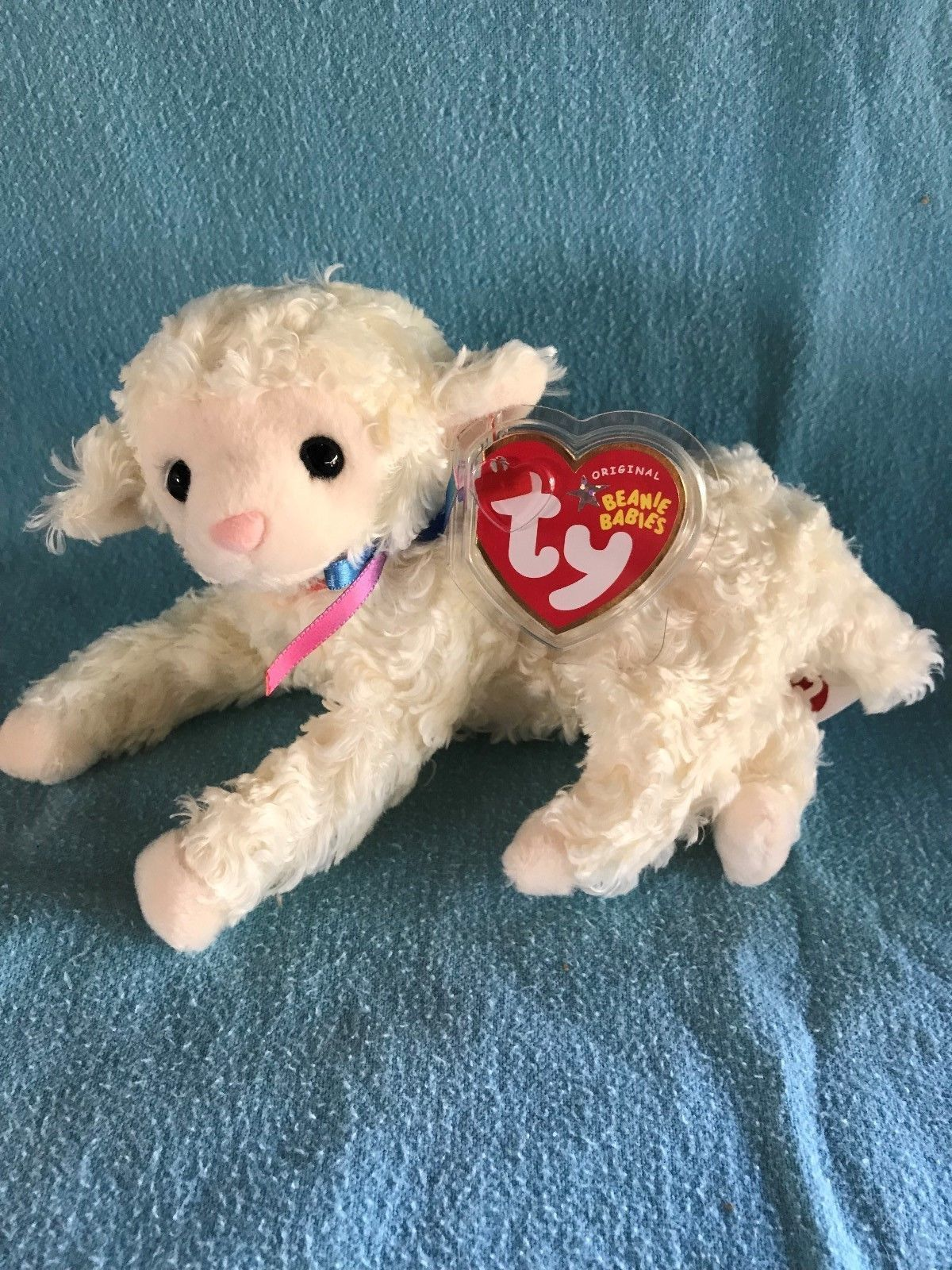 157e3ee4160 TY Beanie Baby - TENDER the Lamb (7 inch) - MWMTs Stuffed Animal Toy 2004