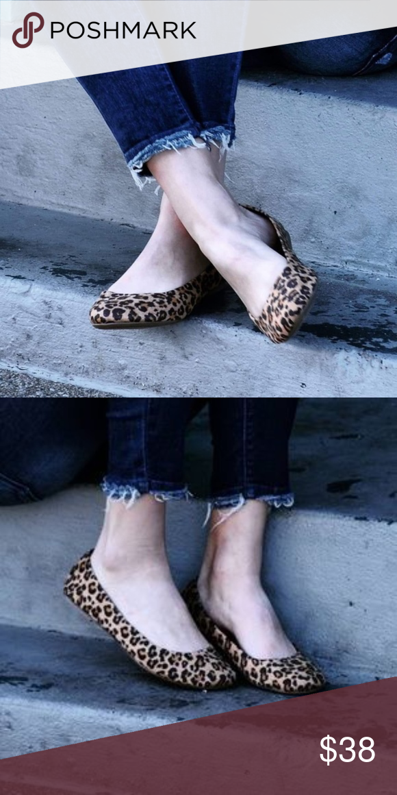 e4451f2a6f Leopard Flats The fabric is 100% polyester upper. They are both stylish and  comfortable. Perfect for a day of errands, the office, or hanging at home.