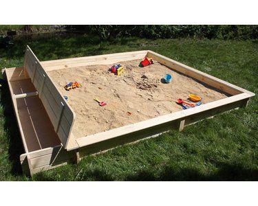 Sandkasten Yanick mit Sitz- & Staukasten 253 cm x 225 cm x 21 cm kaufen bei OBI