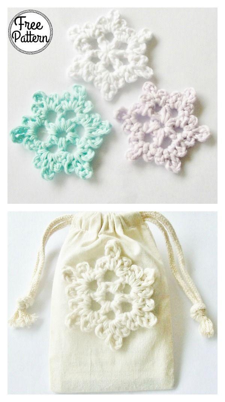 Easy Crochet Snowflake Free Pattern | Crochet | Pinterest | Costura