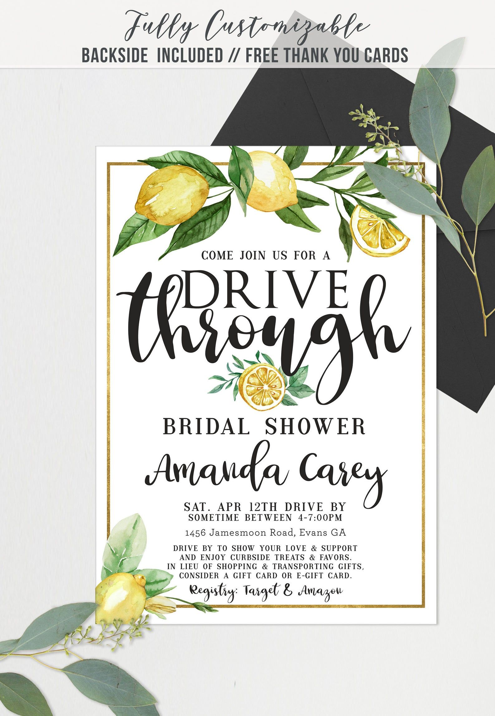 Pin on Drive by Shower Invitations