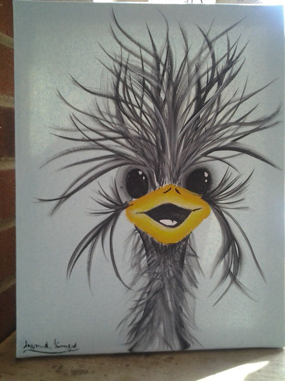 Cute ostrich drawing