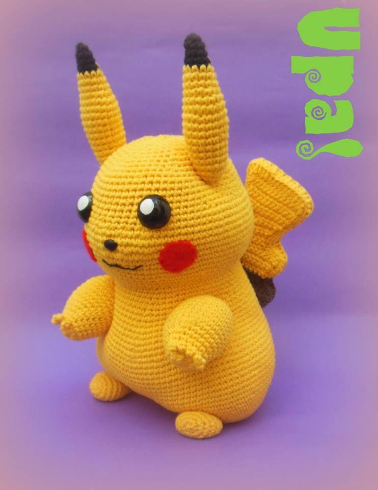 Pikachu #Amiguruni #Crochet #Pokemon | Amigurumis Upa! mi gurrumín ...