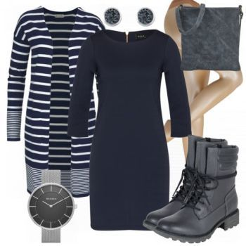 Nachtblau Damen Outfit - Komplettes Herbst-Outfit günstig kaufen    FrauenOutfits.de 5e01dd5df5