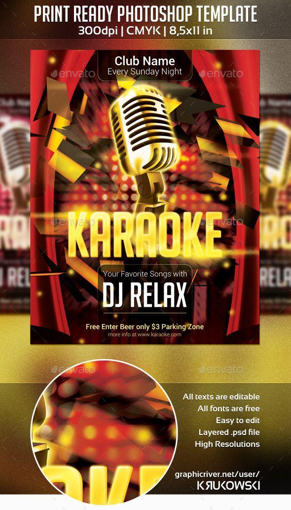 Karaoke Club Flyer Karaoke Flyer Printing And Print Templates