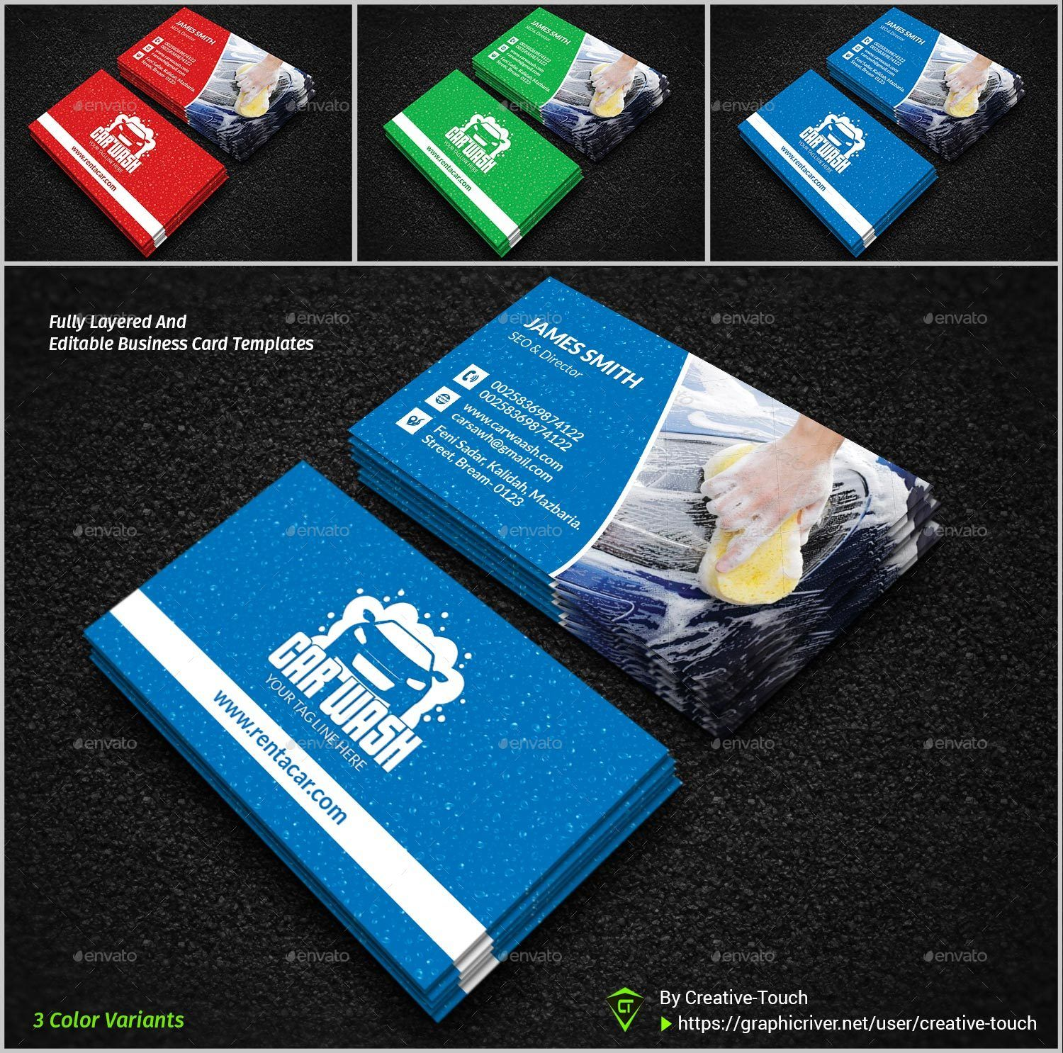 Car Wash Business Card Car Wash Business Car Wash Business Card Template