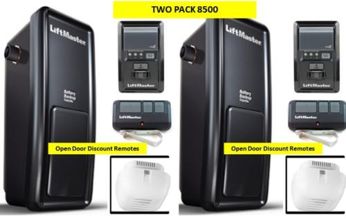 8500 2 Pack Liftmaster Elite Series Wall Mount Garage Door Opener Myq W 893max Garage Doors Garage Door Opener Garage Door Systems