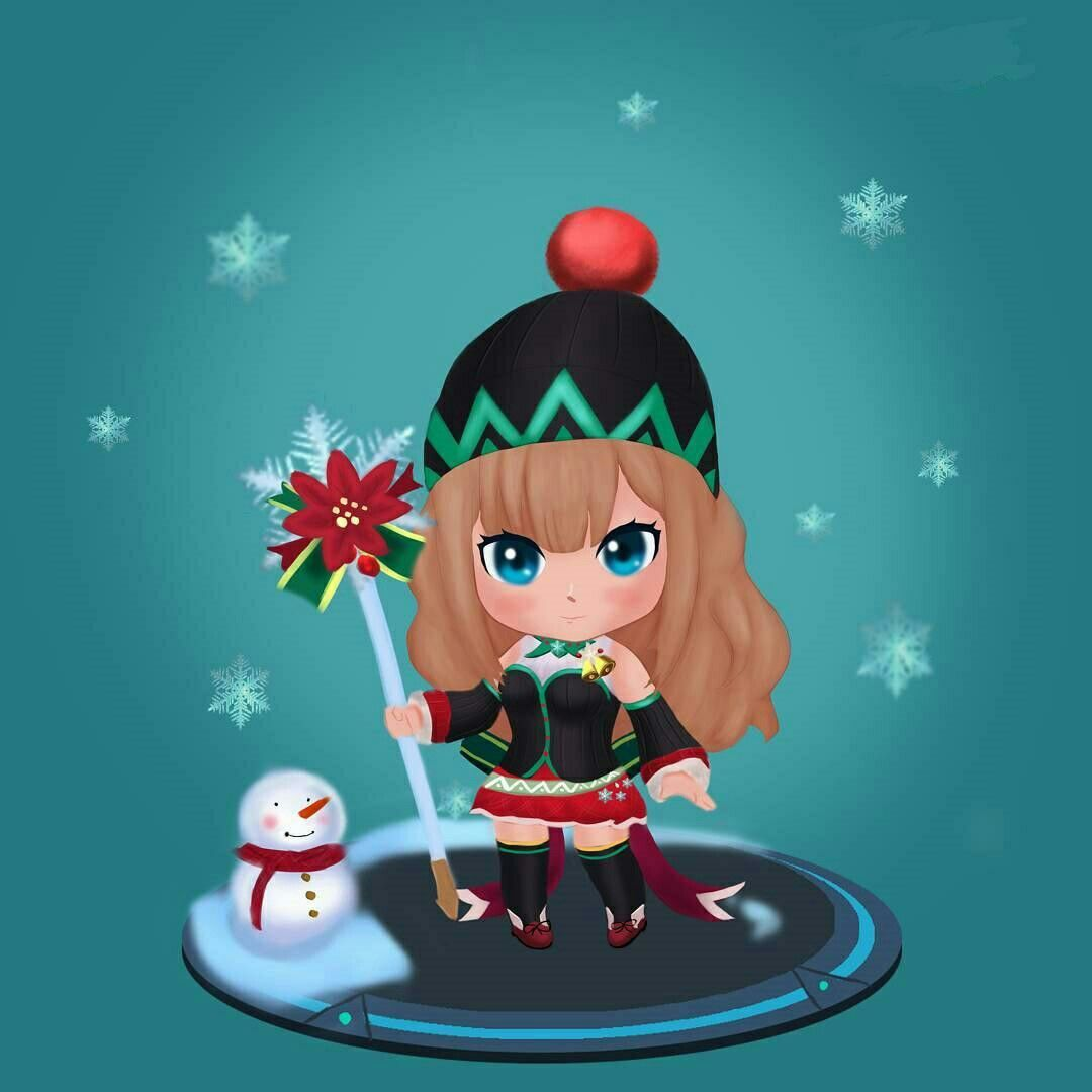 Odette Christmas Carnival Mobile Legend Wallpaper Gaming Wallpapers Kawaii Wallpaper