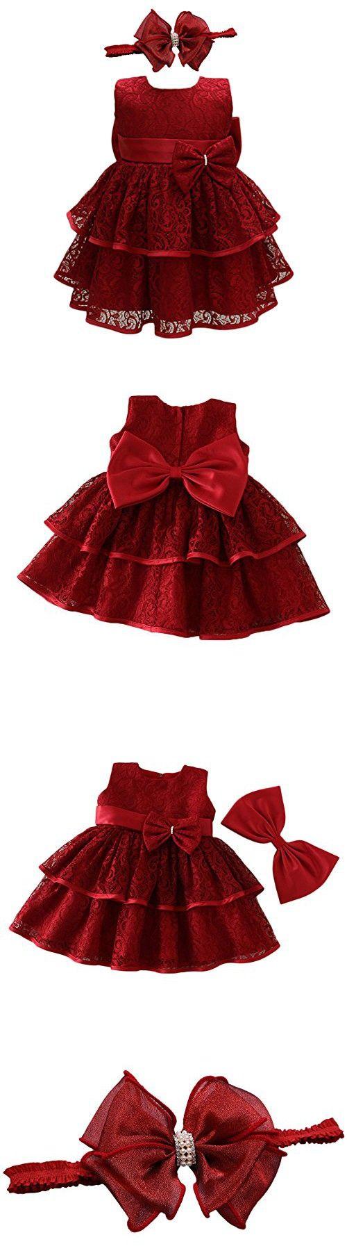 b79512ecd149 Glamulice Baby Lace Party Dress Christening Baptism Girl Dresses (6M ...