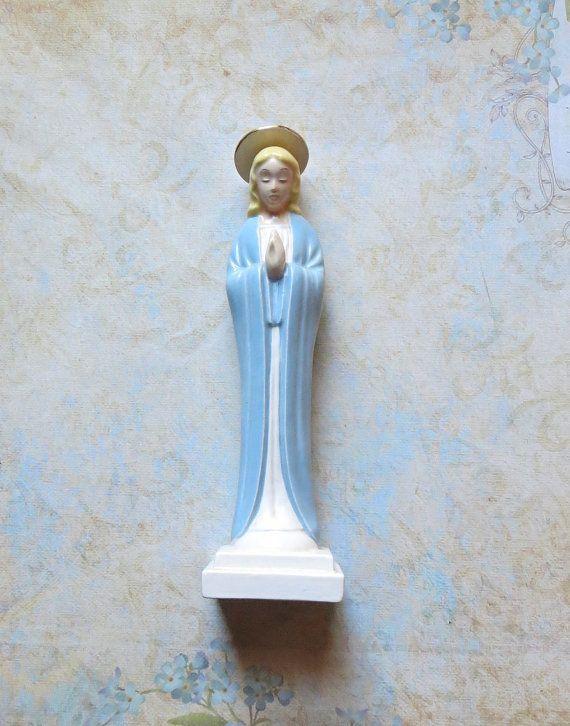 Vintage Porcelain Blessed Virgin Mary/Madonna by MiladyLinden