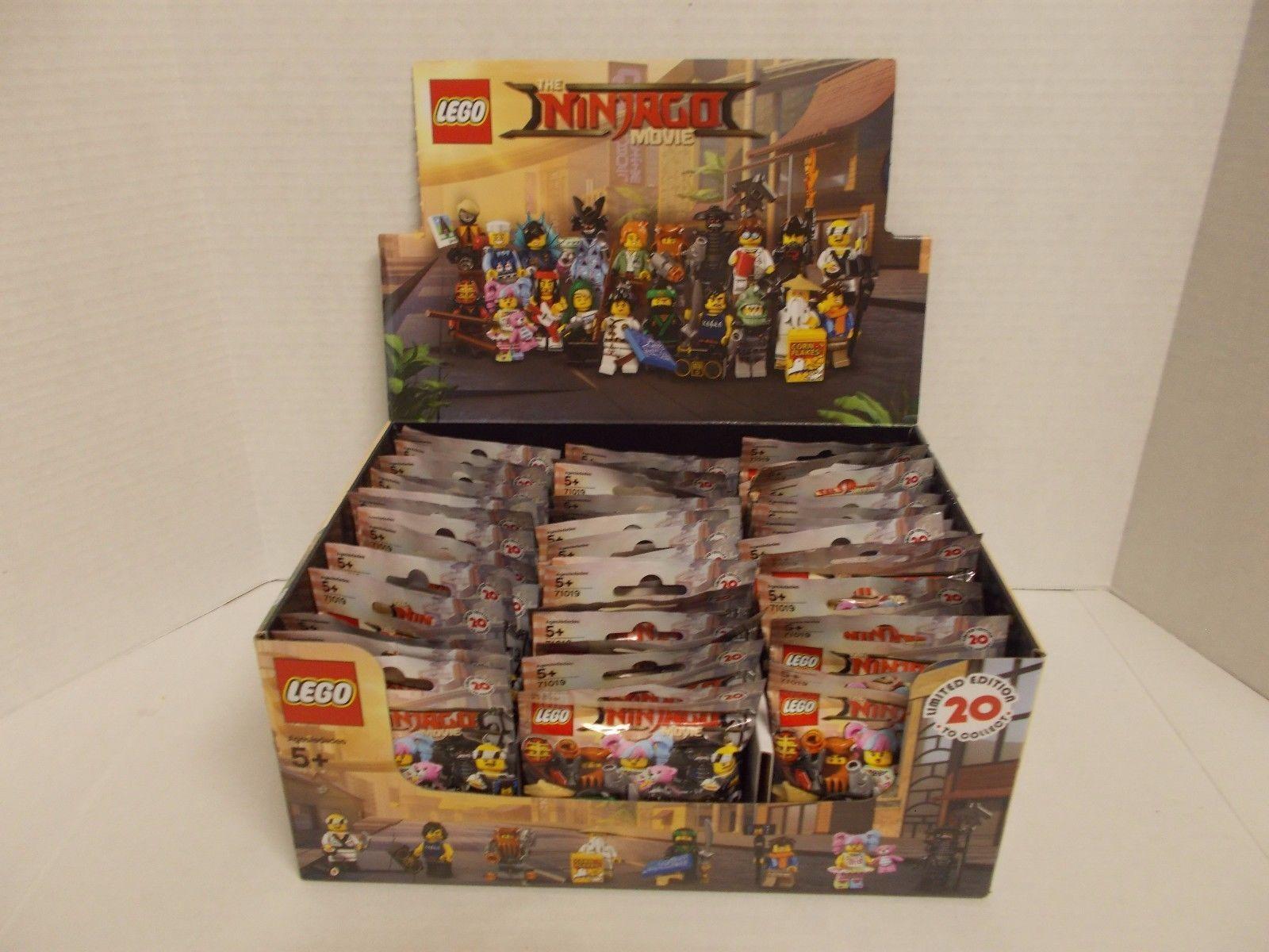 New Lego 71019 Ninjago Minifigures Lot Of 60 Full Case 71017 Batman Movie Series Box