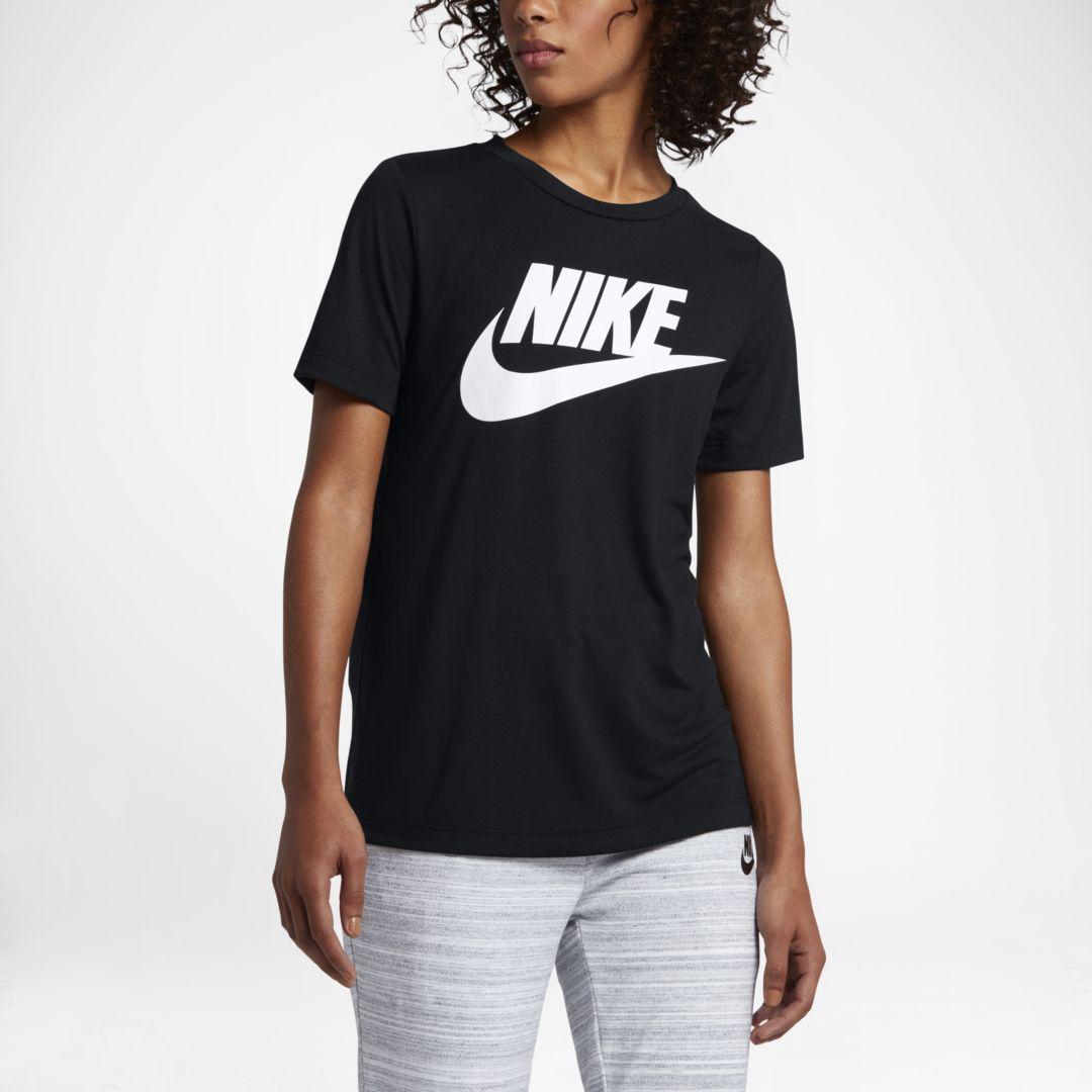7dede4b2588d Nike Sportswear Essential Women s Logo Short Sleeve Top Size XL (Black)