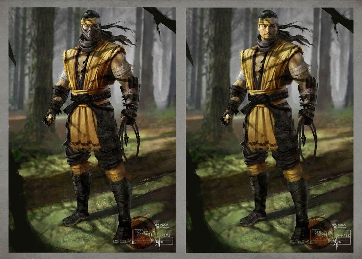 Scorpion Concept Characters Art Mortal Kombat X Personajes