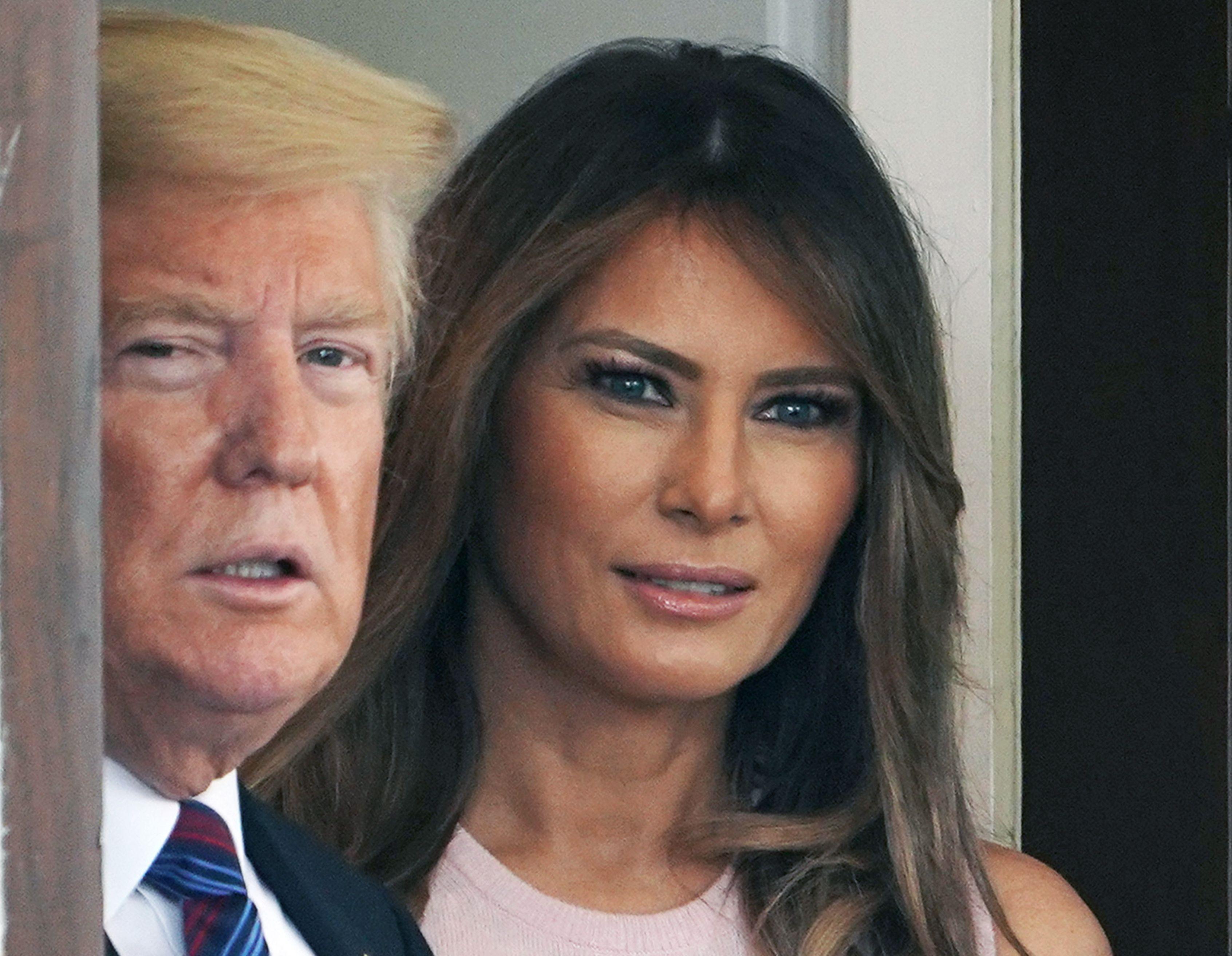 We Are Fine Melania Trump Dismisses Gossip About Marriage First Lady Melania Trump Melania Trump First Lady Melania