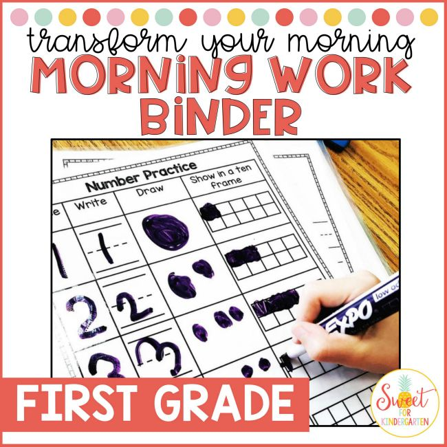 First Grade Morning Work Binder
