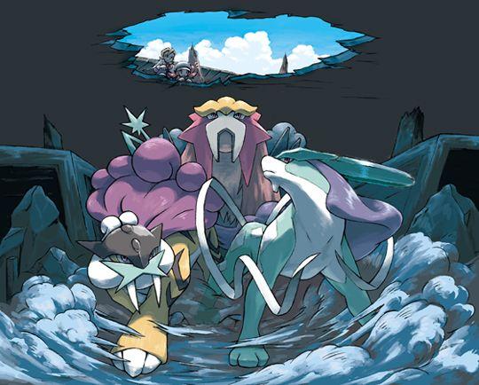 Pokemon Heart Gold E Soul Silver Cães Lendarios Pokemon Sun And