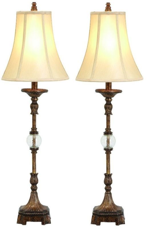Aspire Home Accents 49961 Pax Buffet Lamp (Set of 2) Antique Brown ...