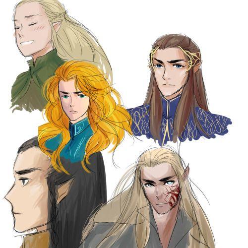 Legolas, Glorfindel, Gil-Galad, Thranduil and Elrond  | the geeks