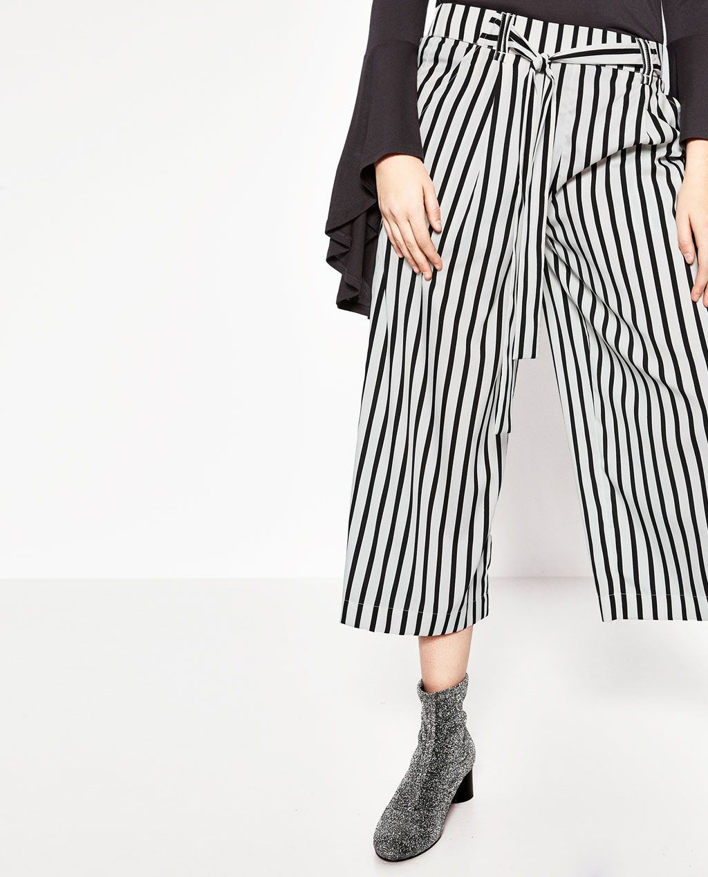 53ac23bba7ea CROPPED STRIPED FLOWING TROUSERS-Culottes-TROUSERS-WOMAN