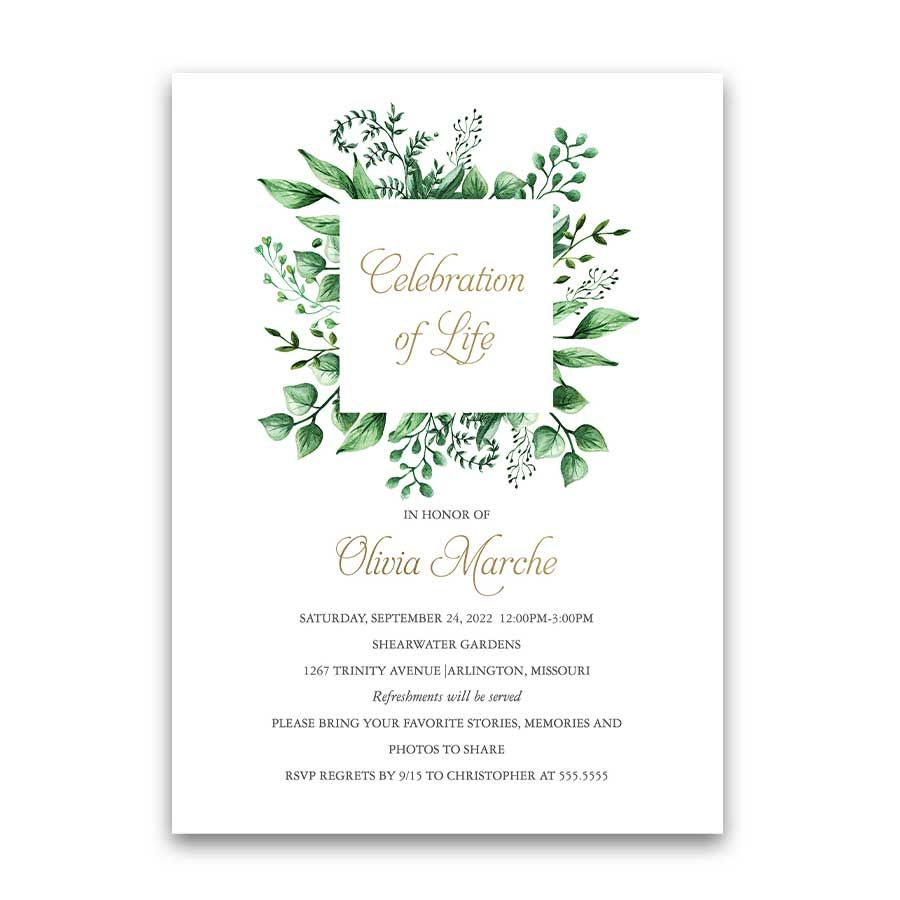 Pin on Celebration of Life Invitations Funerals