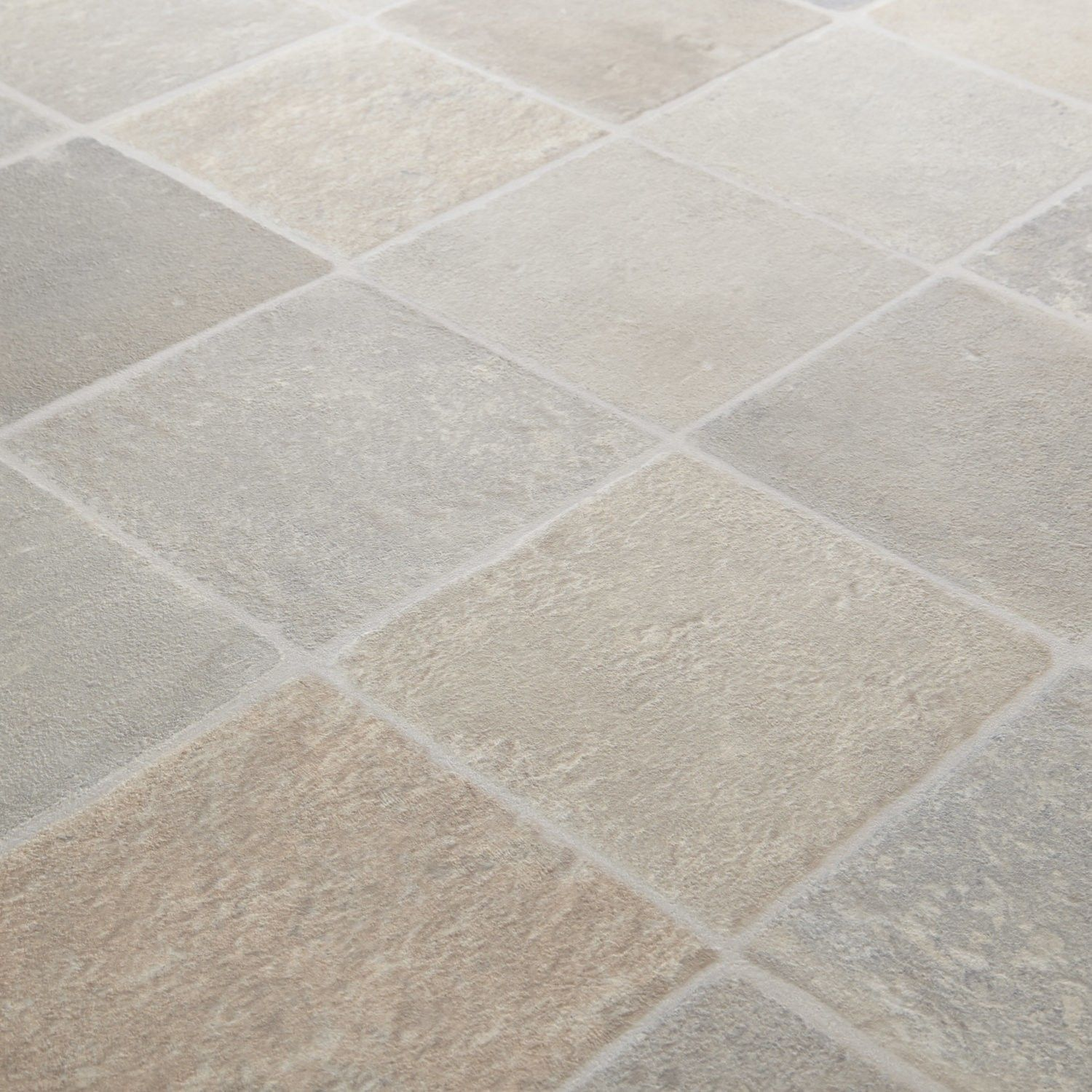 Kitchen Floor Stone Tiles 1199 Rhino Classic Cottage Beige Grey Stone Tile Effect Vinyl