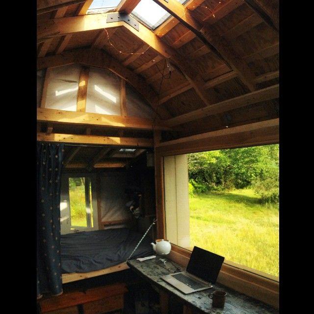 Custom Homeoffice Desk: Tiny House / Mobile Studio Update: Beginnings Of The