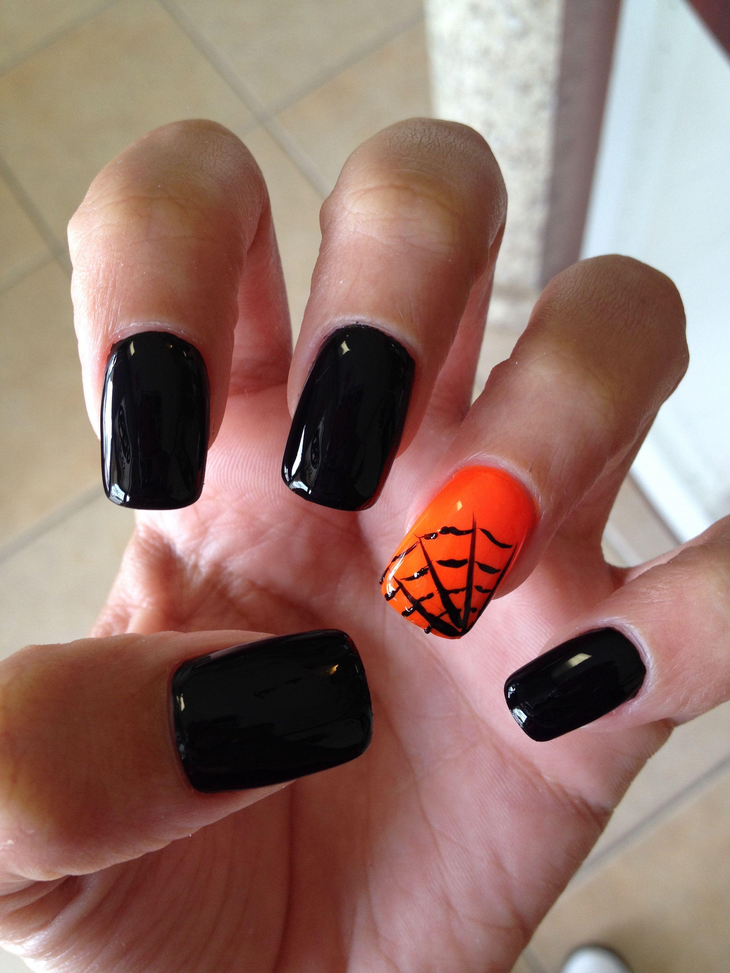 Fall Halloween Nails.Pin On Nails And Hair