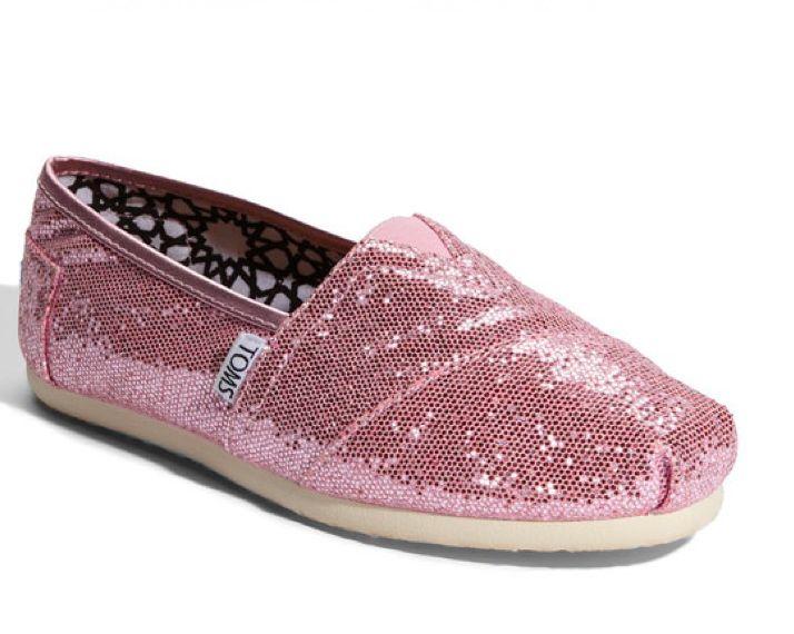 d18b260e1e8 Pink  Glitter Toms