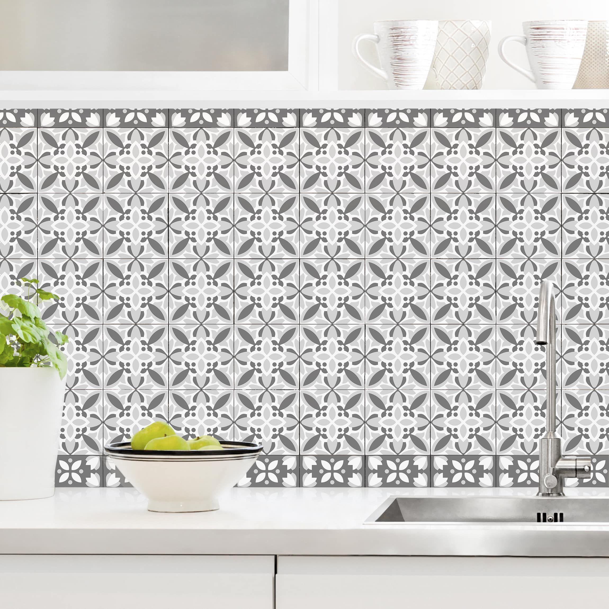 Rinnovare Le Piastrelle Della Cucina rivestimento cucina - piastrelle geometriche mix bloom