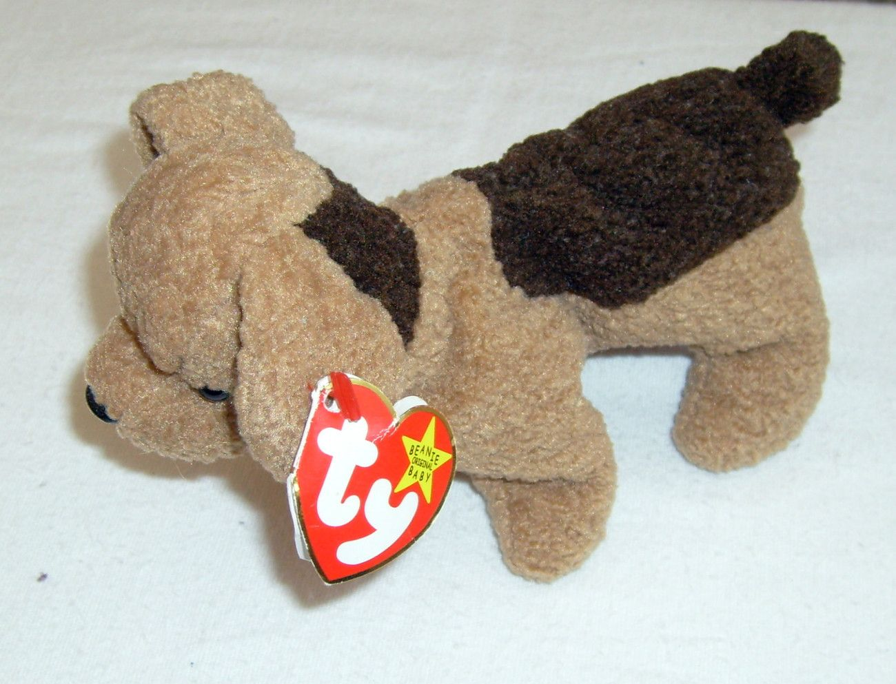 e182bd29c08 TY Original Beanie Baby TUFFY the dog Date of Birth October 12