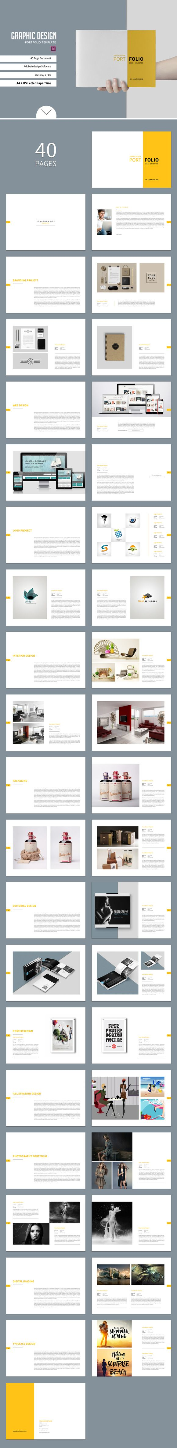 Graphic Design Portfolio Template @creativework247 | Brochure Design ...
