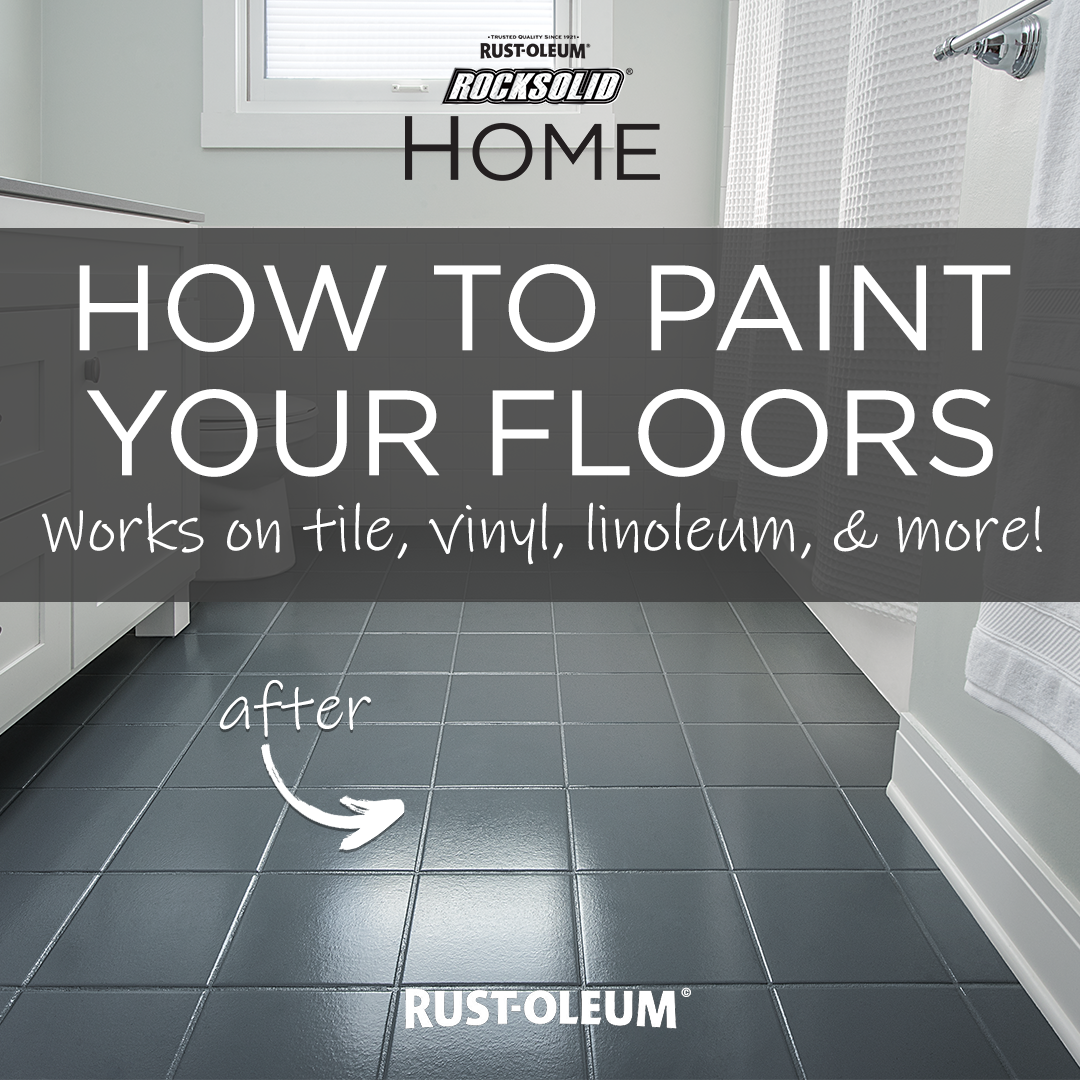 Transform The Look Of Your Bathroom In A Day By Painting Your Floor This Inexpensive Diy Floor Painting Project Saves You Tim Floor Makeover Home Diy Flooring
