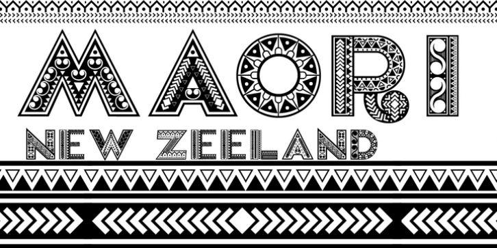 Maori New Zeeland Font Download