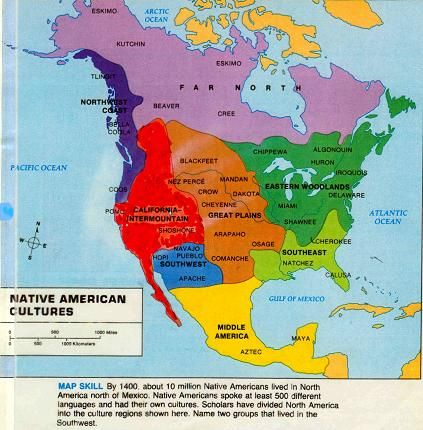 Native American Cultures Map | Native Americans ...