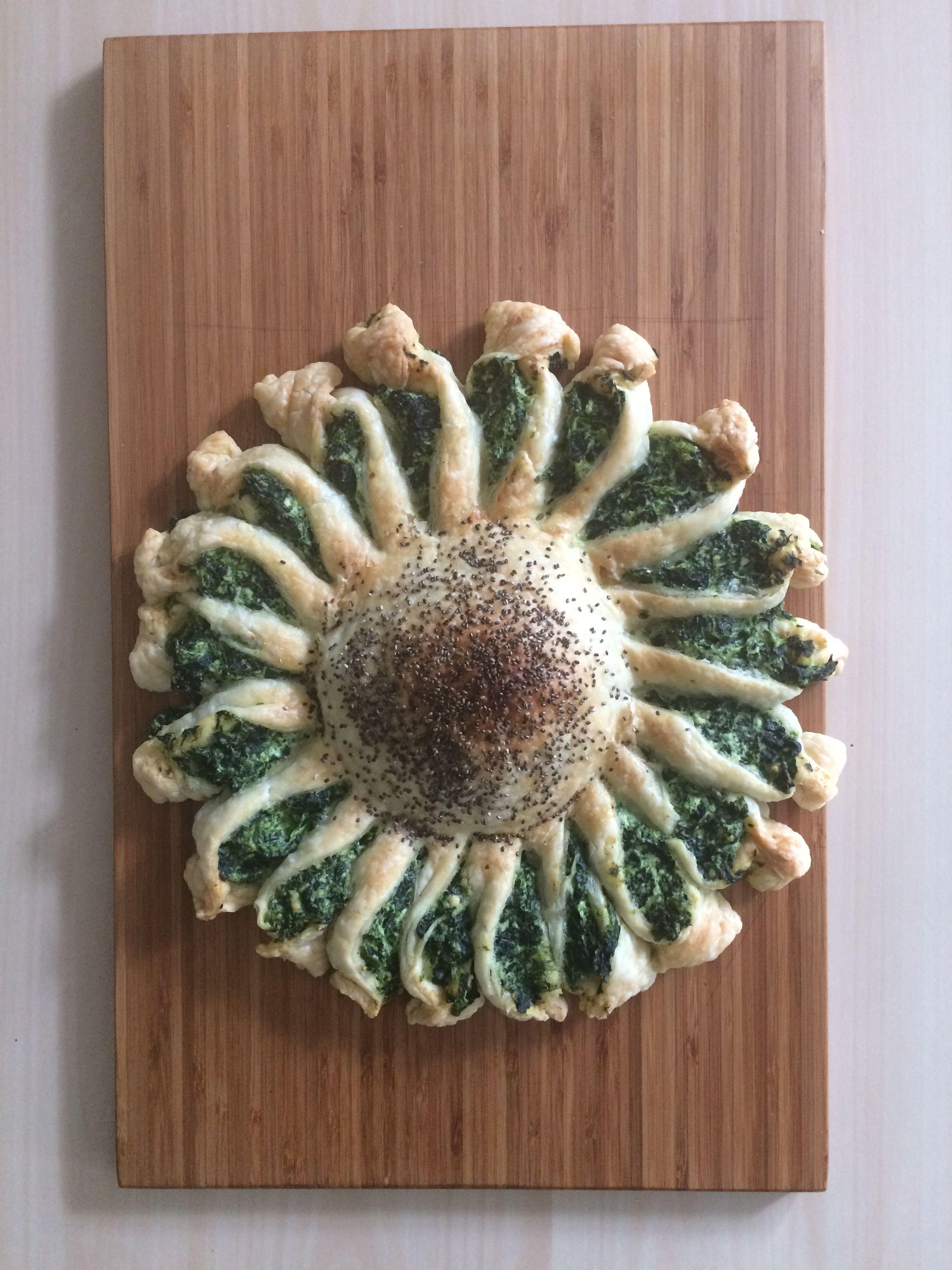 Torta girasole ricotta e spinaci