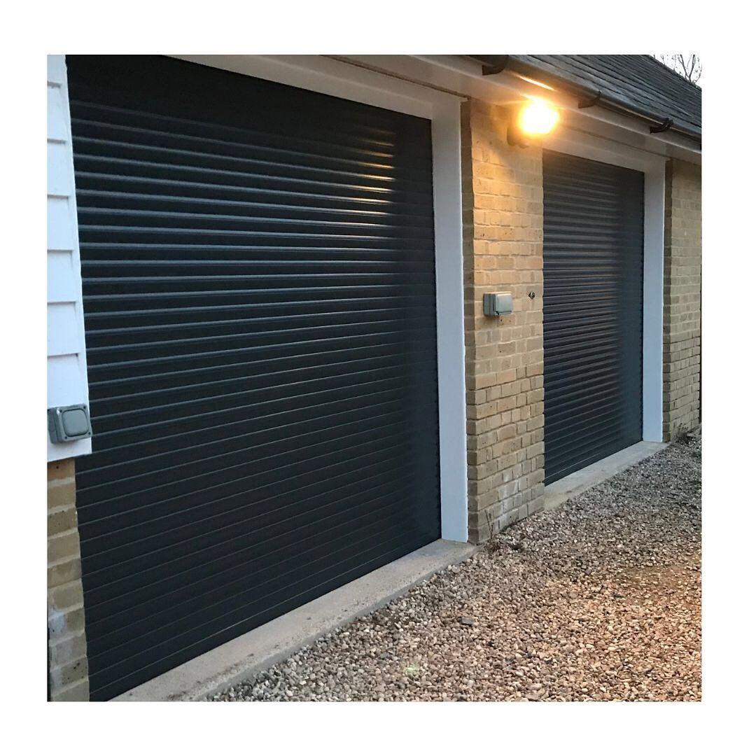 Black Roller Shutter Garage Doors Are Perhaps The Most Stylish Roller Garage Doors Available Electric Remote Controlled Roller Shutter Garage Do Garten Resim