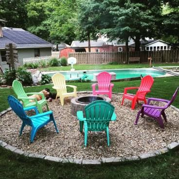 Backyard Fire Pit Area For Your Cozy And Rustic Home