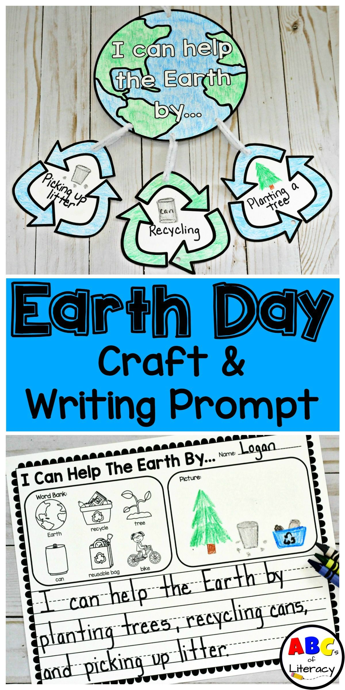 Earth Day Activities Earth Day Craft Writing Prompt