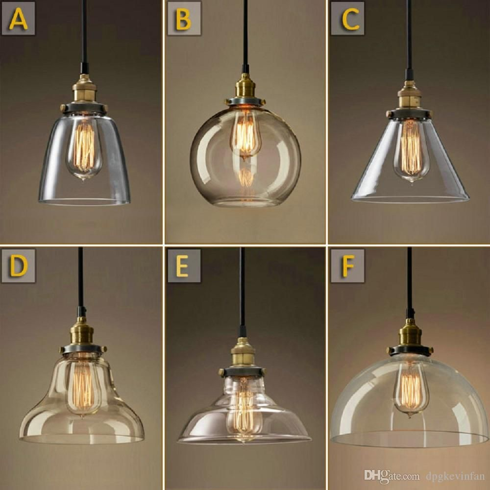 Vintage Chandelier Diy Led Glass Pendant Light Pendant Edison Lamp