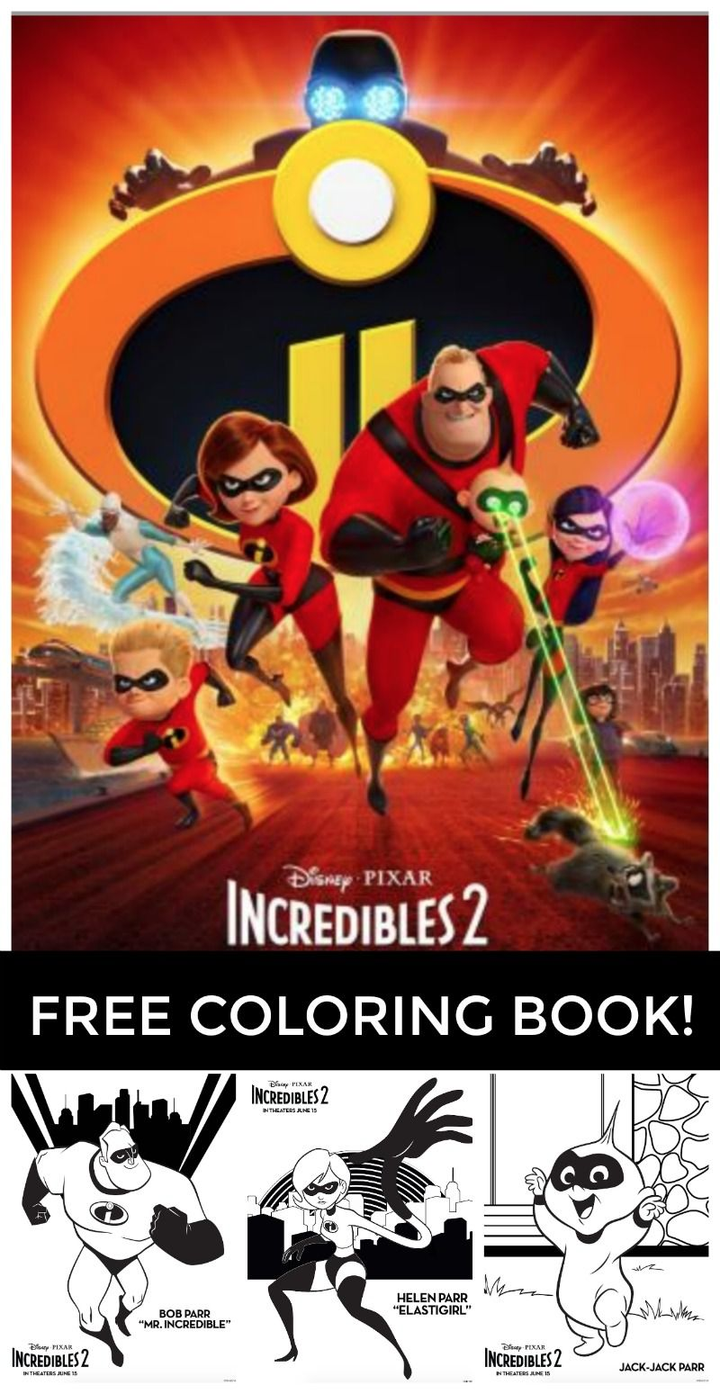 Free Printable Incredibles 2 Coloring Pages All Of These Fun Incredibles 2 Coloring Pages Are Put Printable Coloring Book Coloring Books Disney Coloring Pages