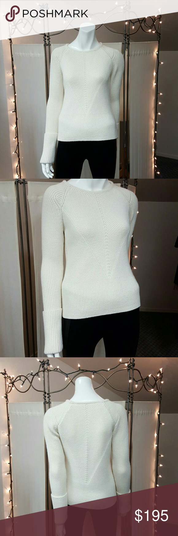 """Derek Lam...10 Crosby Amazing Knit Sweater...measurements laying flat... length 23"""",  chest 16"""" . This sweater has approximately 3-5 inches extra stretch. 10 Crosby Derek Lam Sweaters Crew & Scoop Necks"""