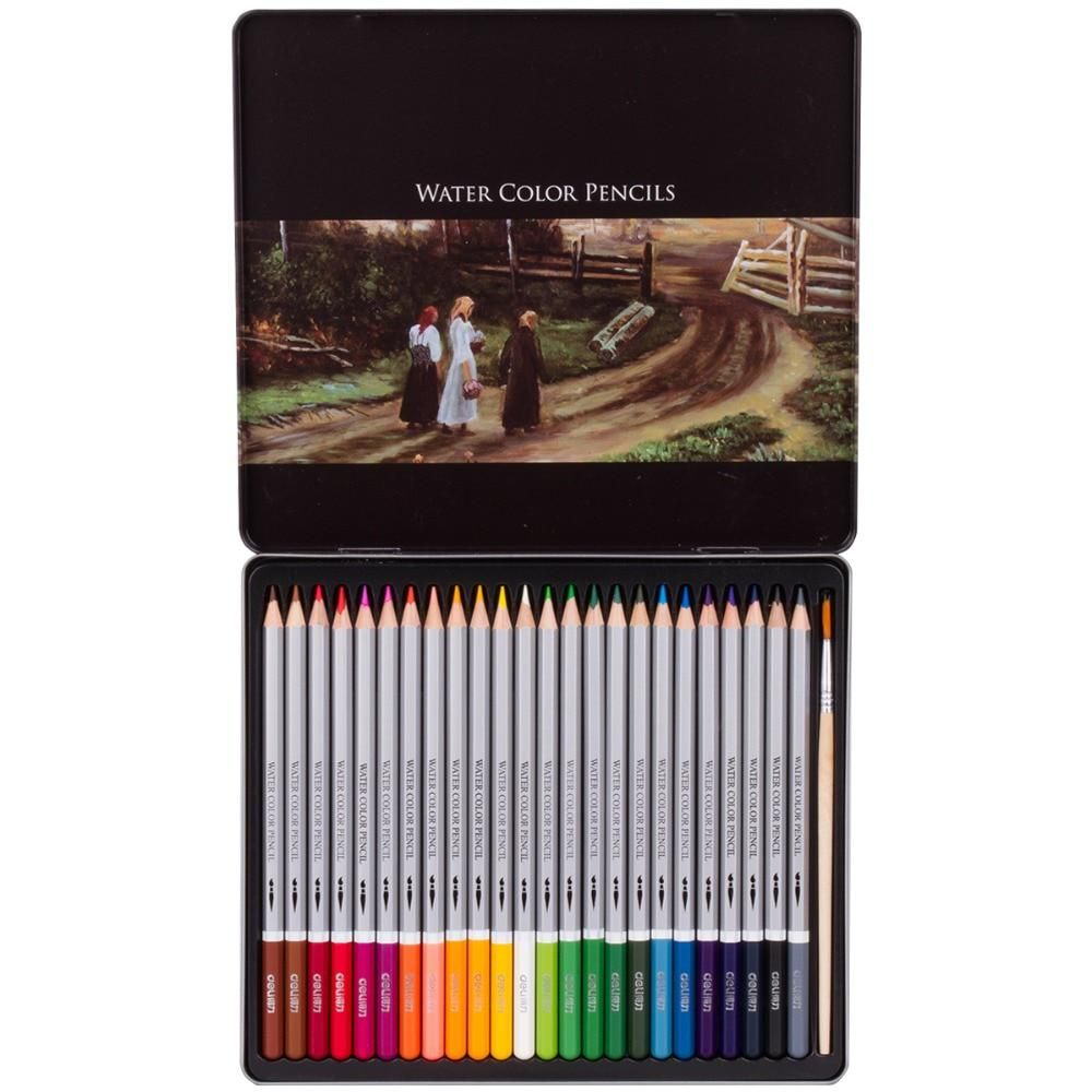 Deli 24 colors professional color pencil student painting drawing