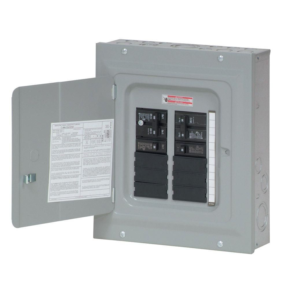 Eaton BR 100 Amp 10 Space 20 Circuit Indoor Main Breaker Renovation  Loadcenter Value Pack (Includes 2-BR115 and 1-BR230)-BR1020B100SRNV - The  Home Depot | Electrical panel, Renovations, Electrical panel wiringPinterest